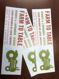 FARM TO TABLE TICKETS ON SALE